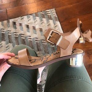 Sam Edelman Trina Metallic Heel Sandal